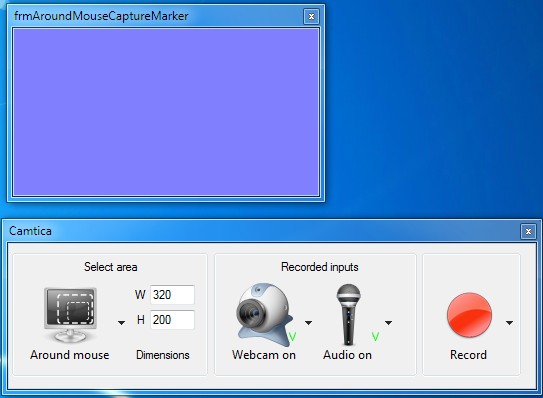 Camtica Region Around Mouse Recording
