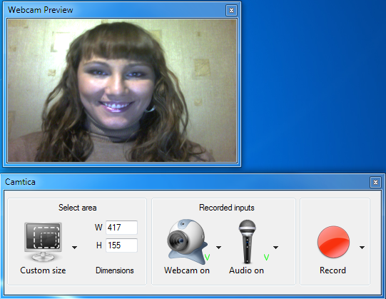 Camtica Webcam Recording