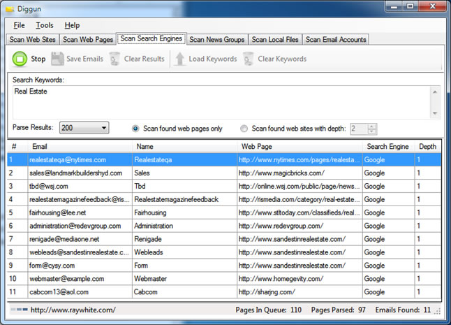 Email Extractor Extract Emails From Search Engine