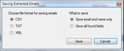 Email Extractor Save Emails